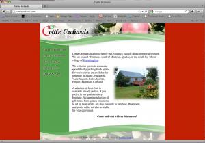Cottle Orchards Web Design