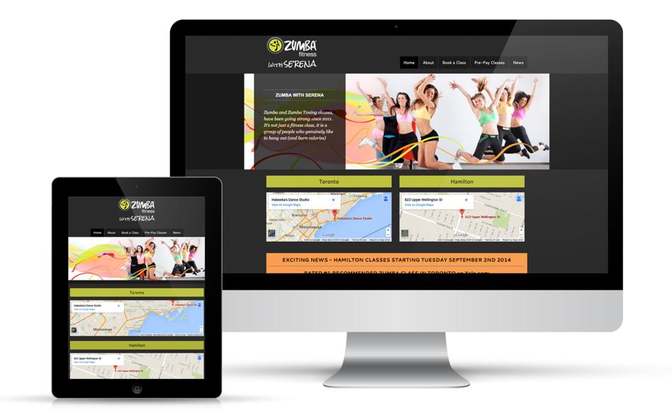 Zumba with Serena Website Design