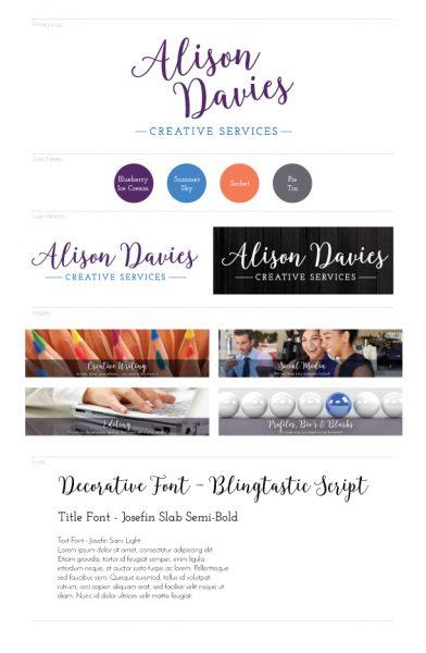 Alison Davies Branding Board