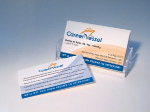 Career Vessel Business Card Design