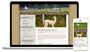 Oak HIlls Alpacas Web Design