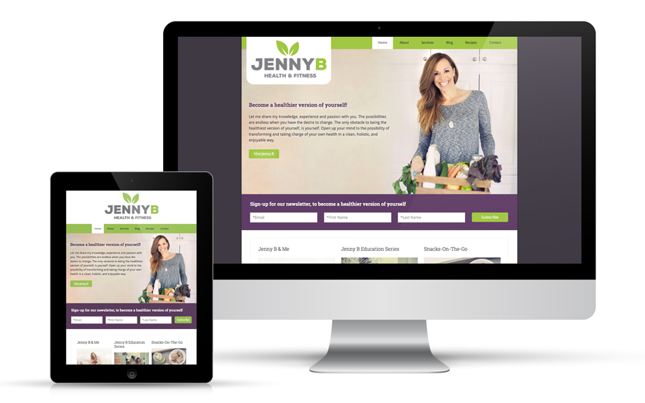 Jenny B Health & Fitness Website Design