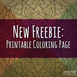 Freebie: Coloring Page