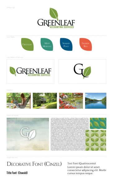 Greenleaf Accounting Mini Brand Board