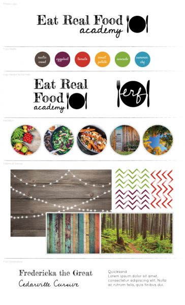 Eat Real Food Academy Branding Board
