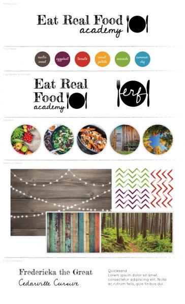 Eat Real Food Academy Branding Board