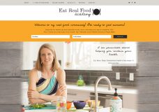 Eat Real Food Academy Website Design Homepage