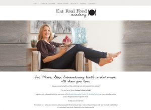 Eat Real Food Academy Website Design Landing