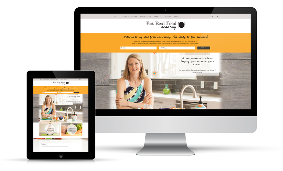 Eat Real Food Academy Website Design