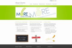 Alison Davies website before