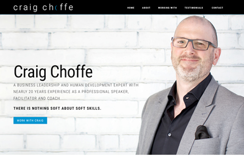 Craig Choffe Website Redesign