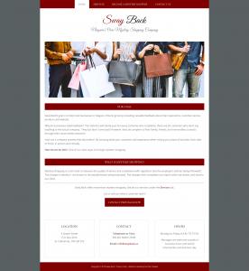 Sway Back homepage design