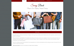 Sway Back homepage design